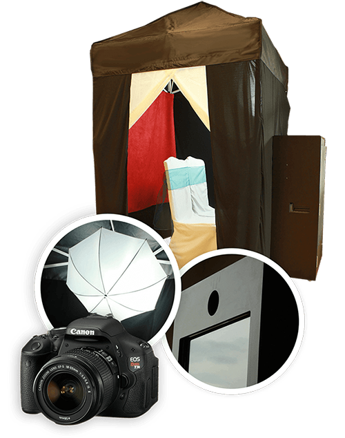 Equipment and one of our photo booths in Edmonton, AB